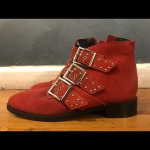 Red Topshop booties